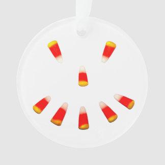 Halloween Candy Corn Grin Ornament