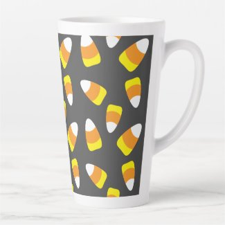 Halloween  Candy Corn Latte Mug