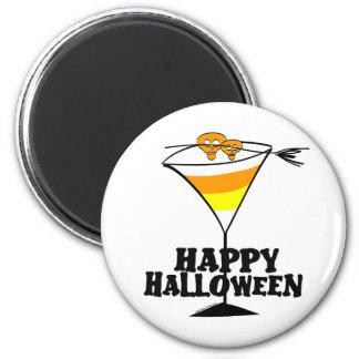 Halloween Candy Corn Martini 2 Inch Round Magnet