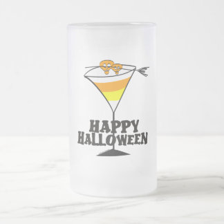 Halloween Candy Corn Martini Frosted Glass Beer Mug