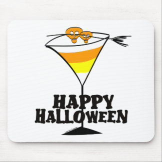 Halloween Candy Corn Martini Mouse Pad