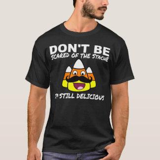 Halloween Candy Corn & Mustache Funny Shirt