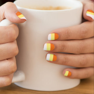 Candy corn nail art nail wraps zazzle halloween candy corn nails minx nail art prinsesfo Image collections