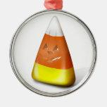 Halloween Candy Corn-O-Lantern Metal Ornament