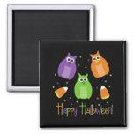 Halloween Candy Corn Owls Magnet