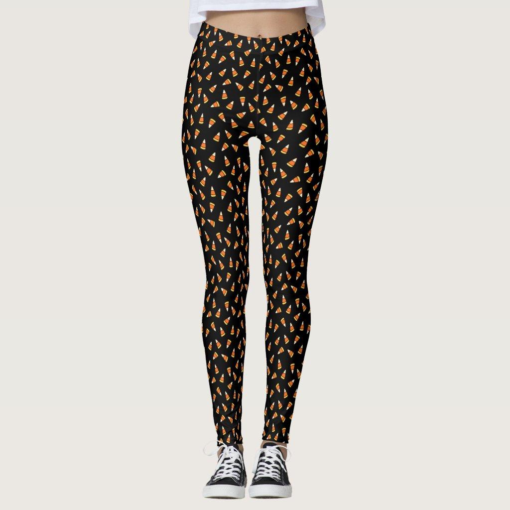 Halloween Candy Corn Pattern Leggings