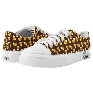 Halloween Candy Corn Pattern Low-Top Sneakers