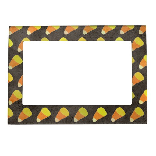 Halloween Candy Corn Pattern Magnetic Frames