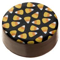 Halloween Candy Corn Pattern Oreo Chocolate Dipped Oreo