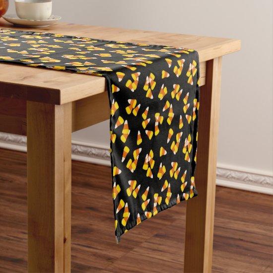 Halloween candy corn pattern short table runner