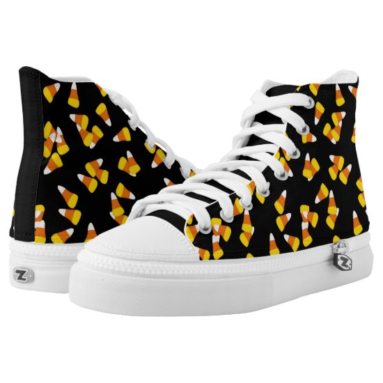 Halloween candy corn pieces High-Top sneakers