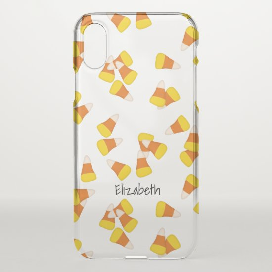 Halloween candy corn pieces pattern iPhone x case