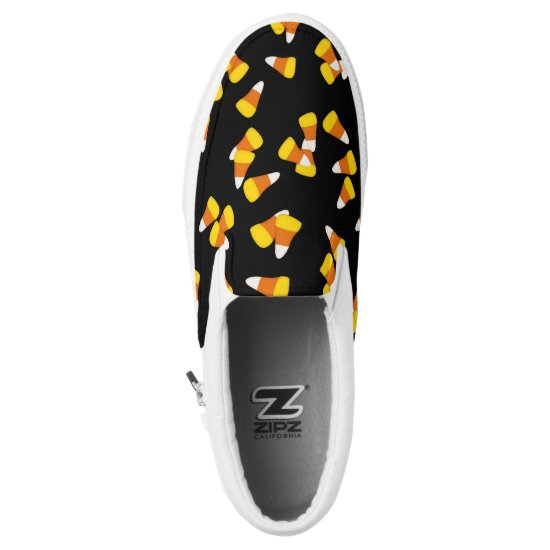 Halloween candy corn pieces Slip-On sneakers