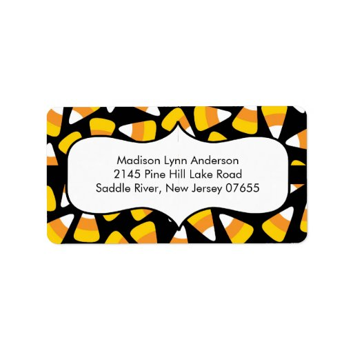 Halloween Candy Corn  Return Address Labels.
