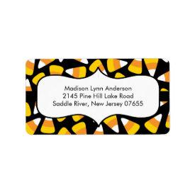 Halloween Candy Corn Return Address Labels