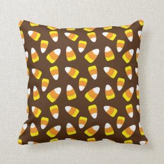 Halloween Candy Corn Throw Pillow