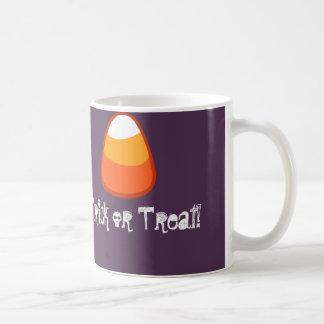 Halloween Candy Corn Trick or Treat Gift Purple Coffee Mug