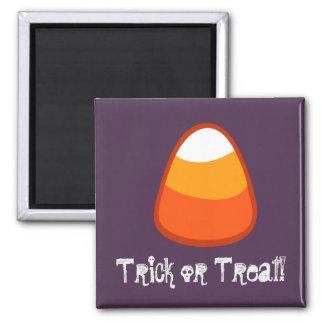 Halloween Candy Corn Trick or Treat Gift Purple Fridge Magnet