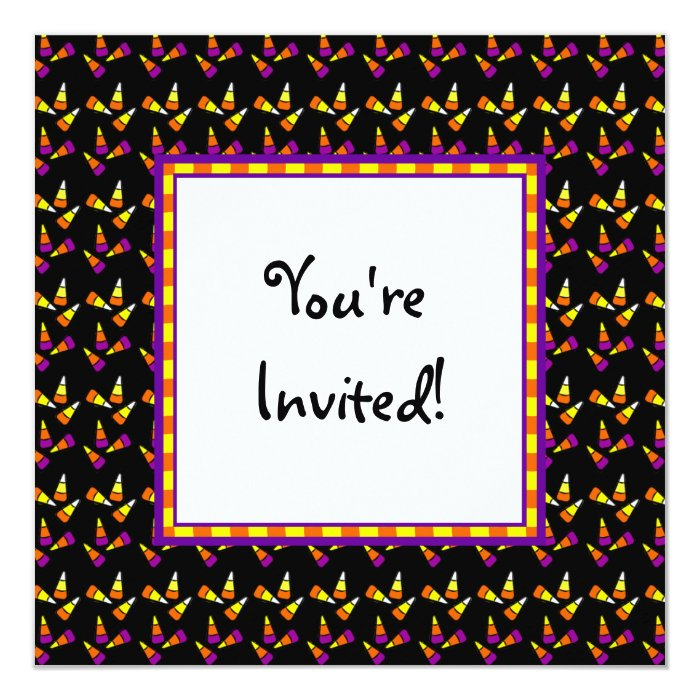 Halloween Candy Custom Party Invitations