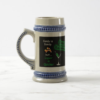 Halloween Candy is Dandy - Candy Corn & Martini Beer Stein