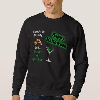 Halloween Candy is Dandy - Candy Corn & Martini Sweatshirt