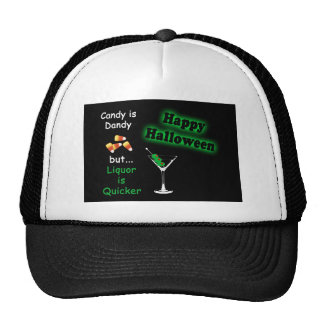 Halloween Candy is Dandy - Candy Corn & Martini Trucker Hat