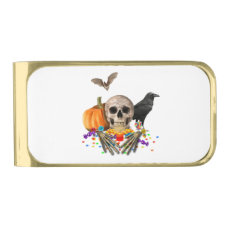 Halloween candy keeper gold finish money clip