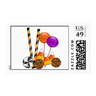 Halloween Candy  Lollipop Candy Corn  Stamps