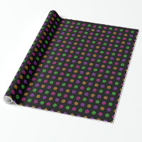 Halloween Candy Pattern glossy wrapping paper