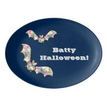 Halloween Themed Halloween Candy Platter Bat and Heart Batty