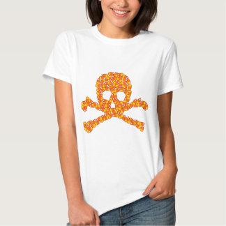 Halloween Candy Skull T Shirt