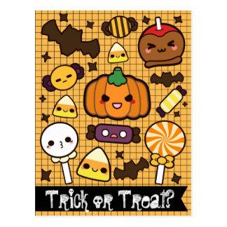 Halloween Candy Treats Postcard