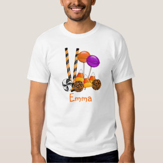 Halloween Candy Trick Or Treat Lollipop Candy Corn Tee Shirt