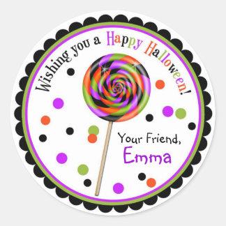 Halloween Candy Trick Or Treat Lollipop Classic Round Sticker