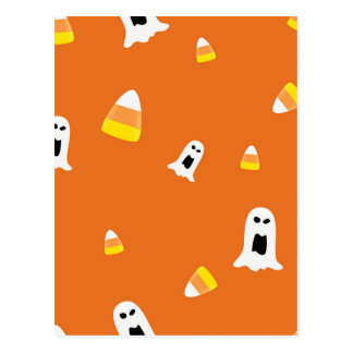 Halloween Candycorn Postal