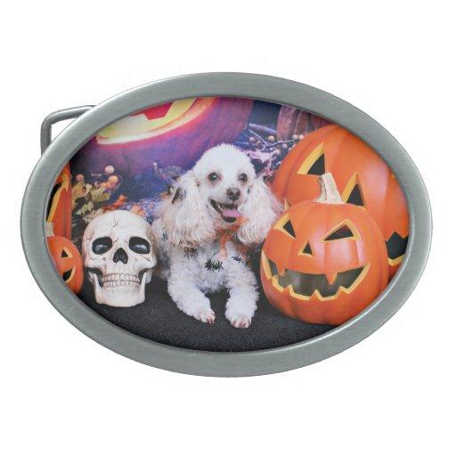 Halloween - caniche - carro hebilla cinturon oval