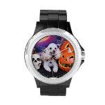 Halloween - caniche - carro reloj
