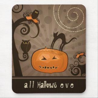 Halloween caprichoso alfombrilla de ratones