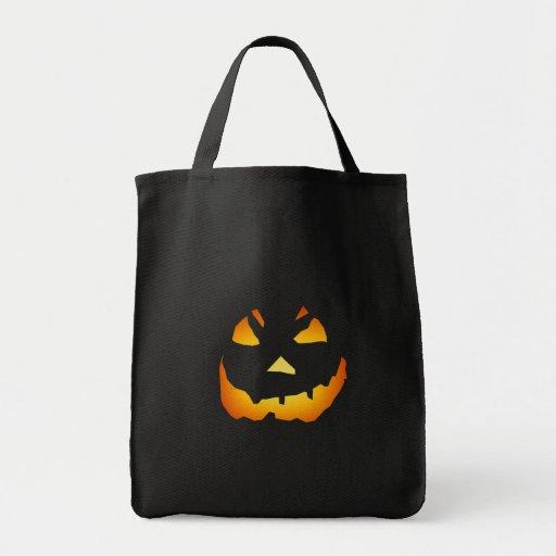 Halloween: Cara de la Jack-o-Linterna: Bolsa