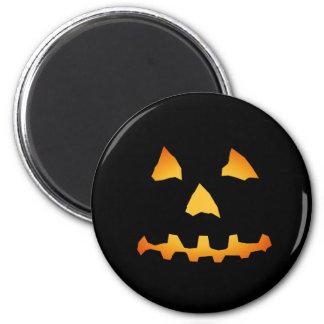 Halloween: Cara de la Jack-o-Linterna: Imán Redondo 5 Cm