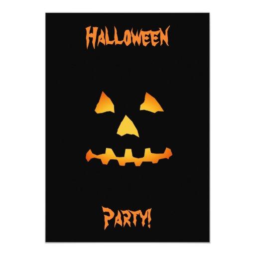 Halloween: Cara de la Jack-O-Linterna: Tarjeta de Invitación 12,7 X 17,8 Cm
