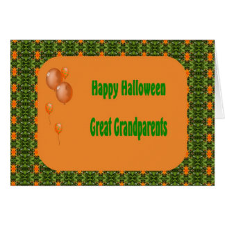 Halloween Card for Great Grandparents