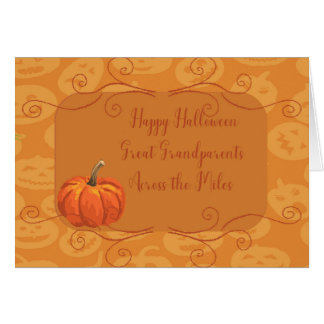 Halloween Card for Great Grandparents Across Miles