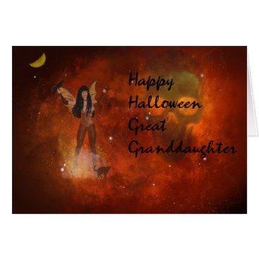 Halloween Themed Halloween card for Your Great Granddaughter