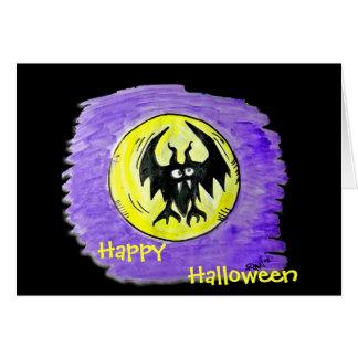 Halloween Card- Halloween Bat Card