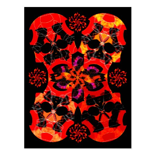 Halloween Card | Invitation | Skulls and Flowers B