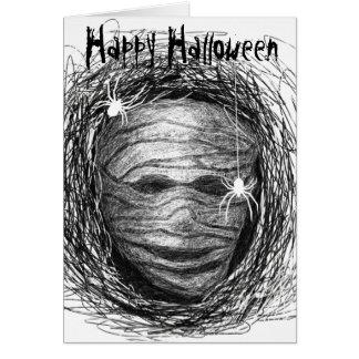 Halloween Card Mummy Grey