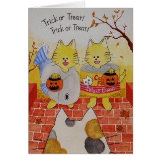 "Halloween Card ""Trick or Treat"""