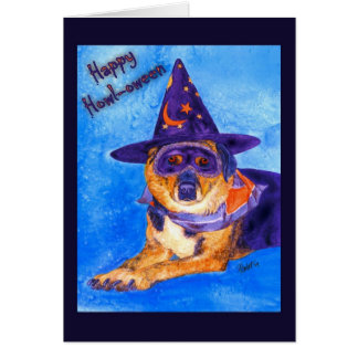 Halloween Card - Witch Dog