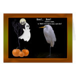 Halloween Card with Great Egret